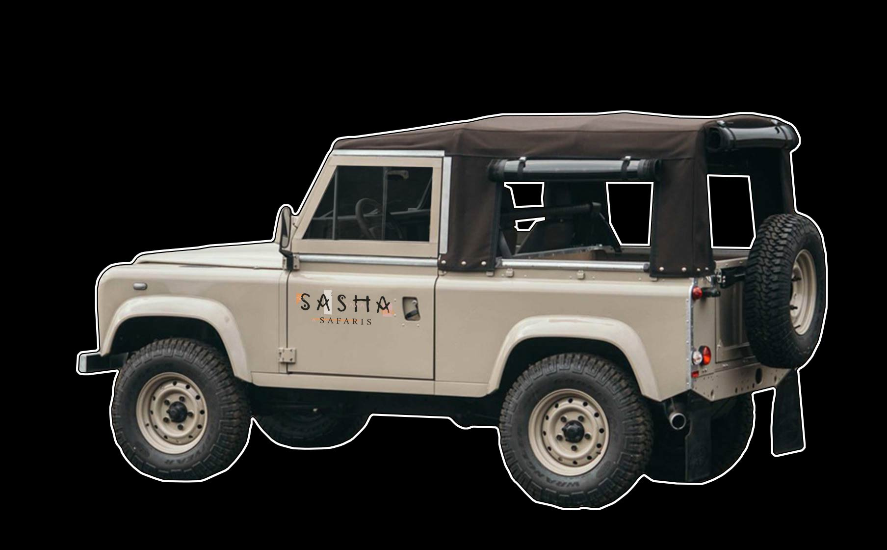 Sasha Safaris Jeep portfolio graphic